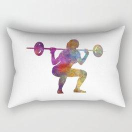Body buiding woman isolated Rectangular Pillow