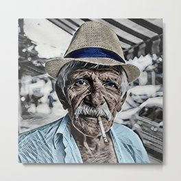 The Old Man and the Sea Portrait Metal Print