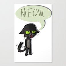 Mean Cat Canvas Print