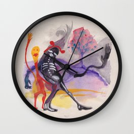 the merry ghosts say hi Wall Clock