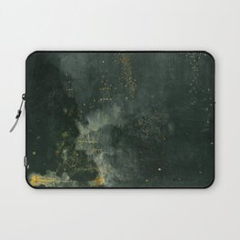 James Abbott McNeill Whistler - Nocturne in Black and Gold Laptop Sleeve