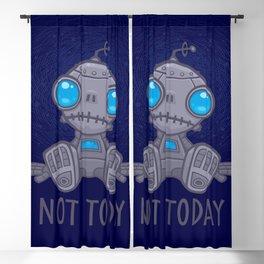 Not Today Sad Robot Blackout Curtain