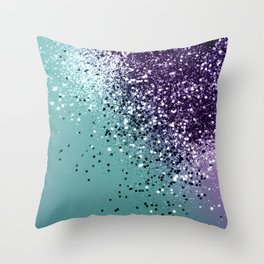 Mermaid Glitter Dream #1 #shiny #decor #art #society6 Throw Pillow