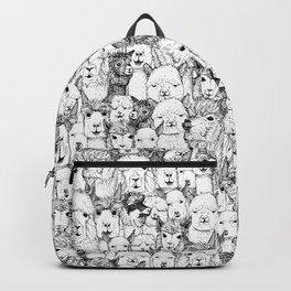 just alpacas black white Backpack