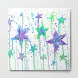 Starfish Flowers Metal Print
