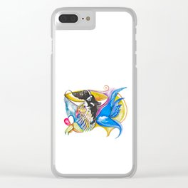 Eagle Heart Clear iPhone Case