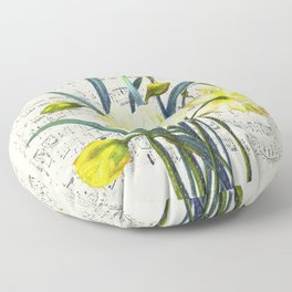 Daffodil Spring Song Floor Pillow