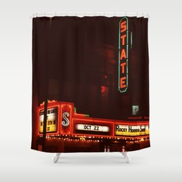 Night Lights State Street Theater, Ithaca NY Shower Curtain