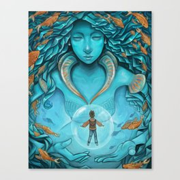 The Messenger Canvas Print