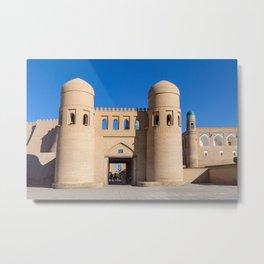 Khiva West Gate - Uzbekistan Metal Print