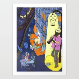 New Orleans, here music is being born, every day anew (My dreams of America part2) Art Print