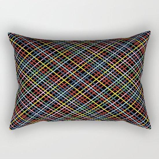 Weave 45 Black Rectangular Pillow