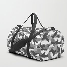 Grey Gray Camo Camouflage Duffle Bag