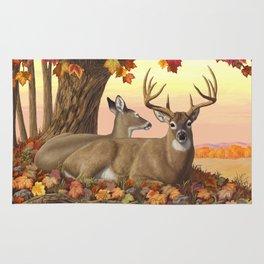 Hilltop Retreat Whitetail Deer Painting Rug