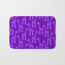 Giraffes-Purple Bath Mat