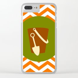 Sand Castle Bucket - Cute Summer Accessories Collection Clear iPhone Case