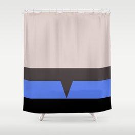 The Doctor - Minimalist Star Trek Voyager VOY - startrek - Trektangle Trektangles - EMH Shower Curtain