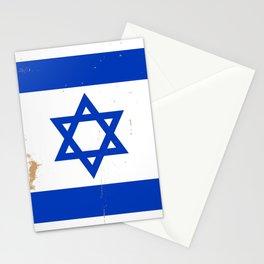 Israel Flag Grunge Stationery Cards
