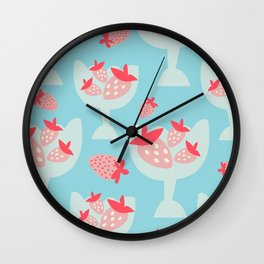 Strawberry Dessert Wall Clock