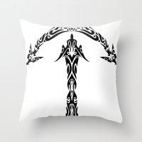 sagittarius Throw Pillows featuring Sagittarius by Mario Sayavedra