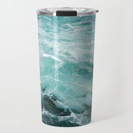 Water Photography | Sea | Ocean | Pattern | Abstract | Digital | Turquoise Travel Mug