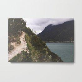 Risky Trail Metal Print