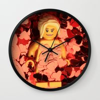 american beauty Wall Clocks featuring American Beauty by Studio Ten Media