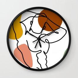 NOODDOOD Lines 4 Wall Clock