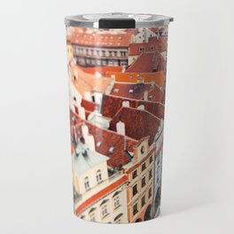 Red Roof Prague Travel Mug