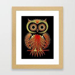 String Art Owl Framed Art Print