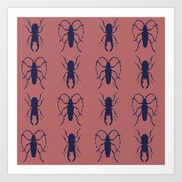 Beetle Grid V4 Art Print