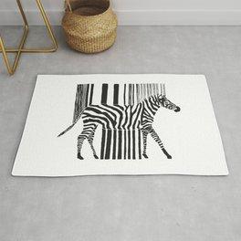 Zebra Code Rug