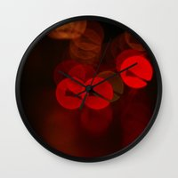 bokeh Wall Clocks featuring Bokeh by Molnár Roland