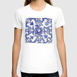 Blue and White Portuguese tile T-shirt