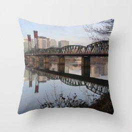 Hawthorne Bridge Throw Pillow