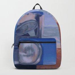 Cuban Car on beach painting Backpack