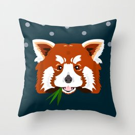 Rascal Red Panda Throw Pillow