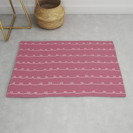 Lipstick Curlicues Drawing Rug