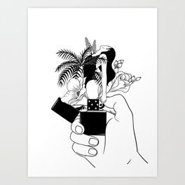 Light My Fire Art Print