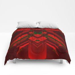 look behind the wooden structure Comforters