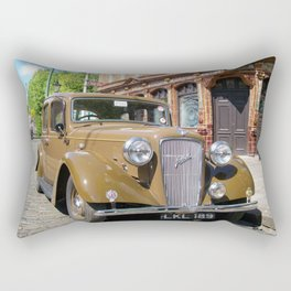 Vintage car and English Pub Rectangular Pillow
