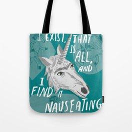 The Existentialist Unicorn Tote Bag