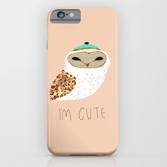 i'm cute owl illustration  iPhone & iPod Case