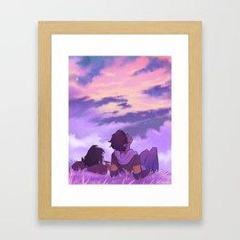 Stargazing Klance Framed Art Print