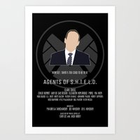 agents of shield Art Prints featuring Agents of S.H.I.E.L.D. - Coulson by MacGuffin Designs