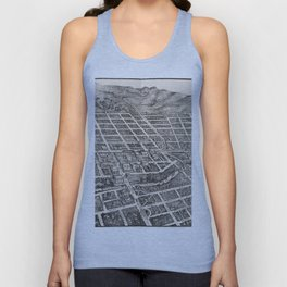 Vintage Pictorial Map of Reno Nevada (1907) Unisex Tank Top