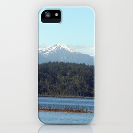 The New  Zealand Alps over a lake iPhone Case