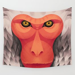 Japanese Monkey Wall Tapestry