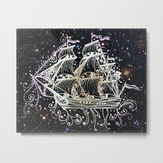 The Great Sky Ship II Metal Print