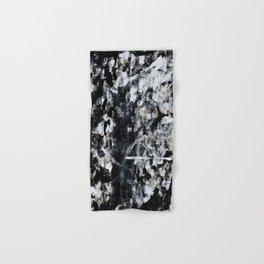 004: a vibrant abstract design in black and white by Alyssa Hamilton Art  Hand & Bath Towel